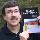 Eric Knight with The New Race To Space book